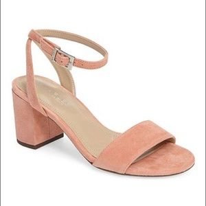 Charles by Charles  David pink suede sandals, new